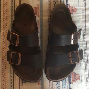 Two strap leather Birkenstock